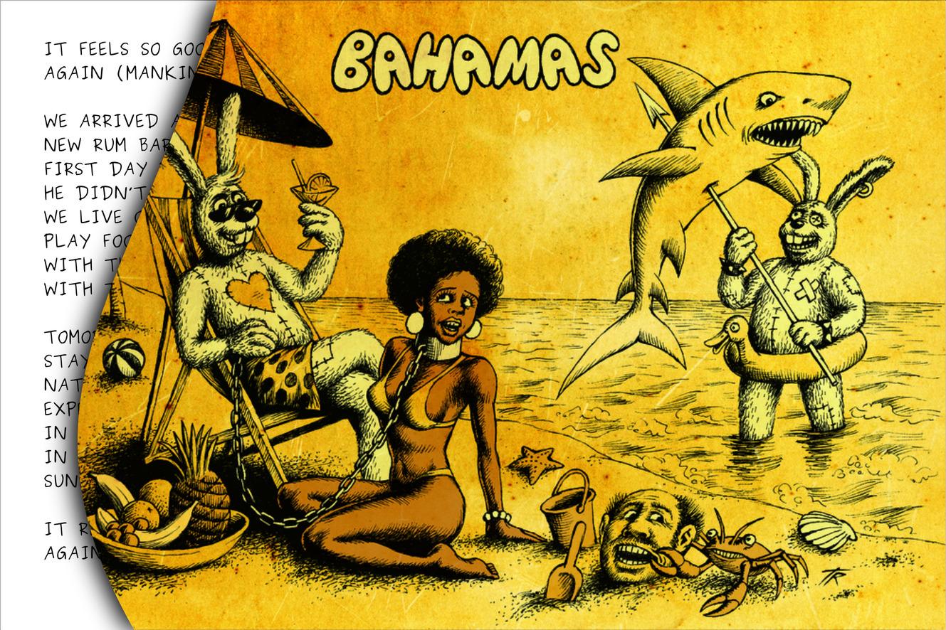 Ronald and Donald writing from Bahamas